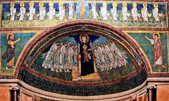 9th century mosaic, church of Santa Maria in Domnica, Rome