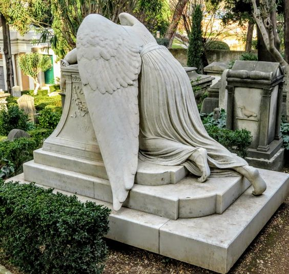 Angel of Grief by William Wetmore Story, Protestant Cemetery, Rome