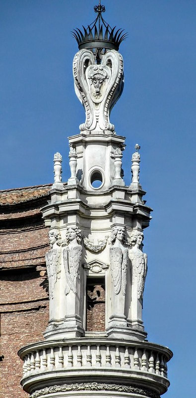 Bell Tower by Borromini, Sant' Andrea delle Fratte, Rome