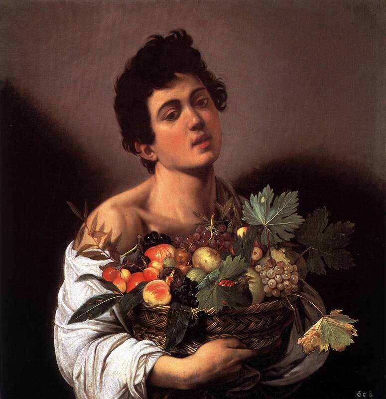 Boy with a Basket of Fruit by Caravaggio, Borghese Gallery, Rome