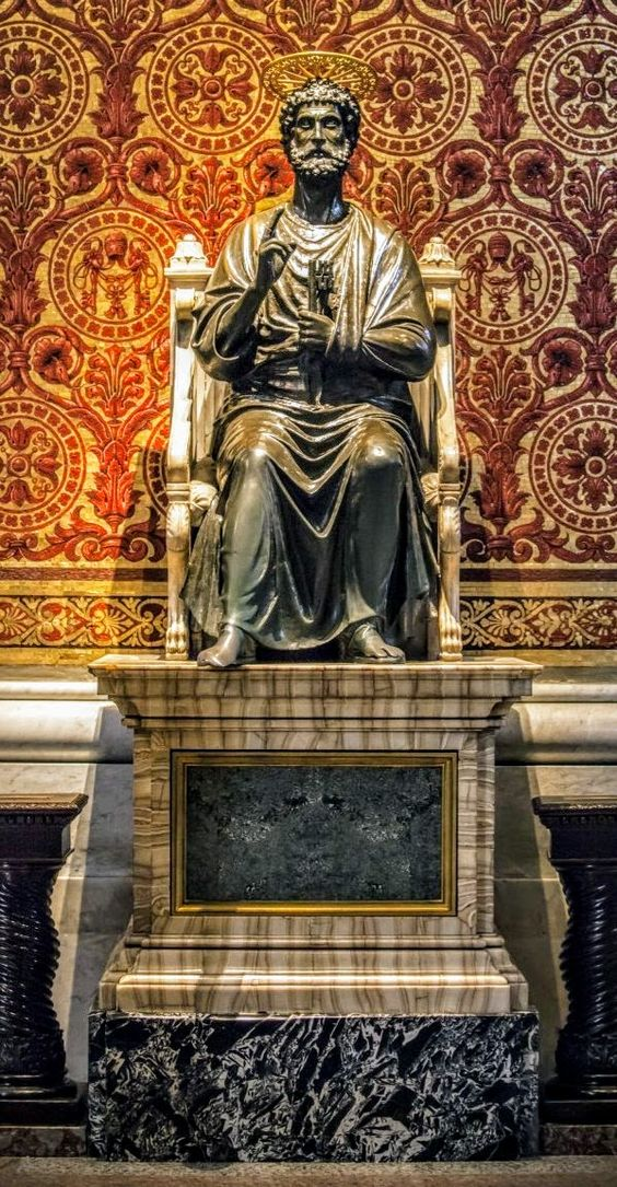 Bronze statue of St Peter, St Peter's Basilica, Rome