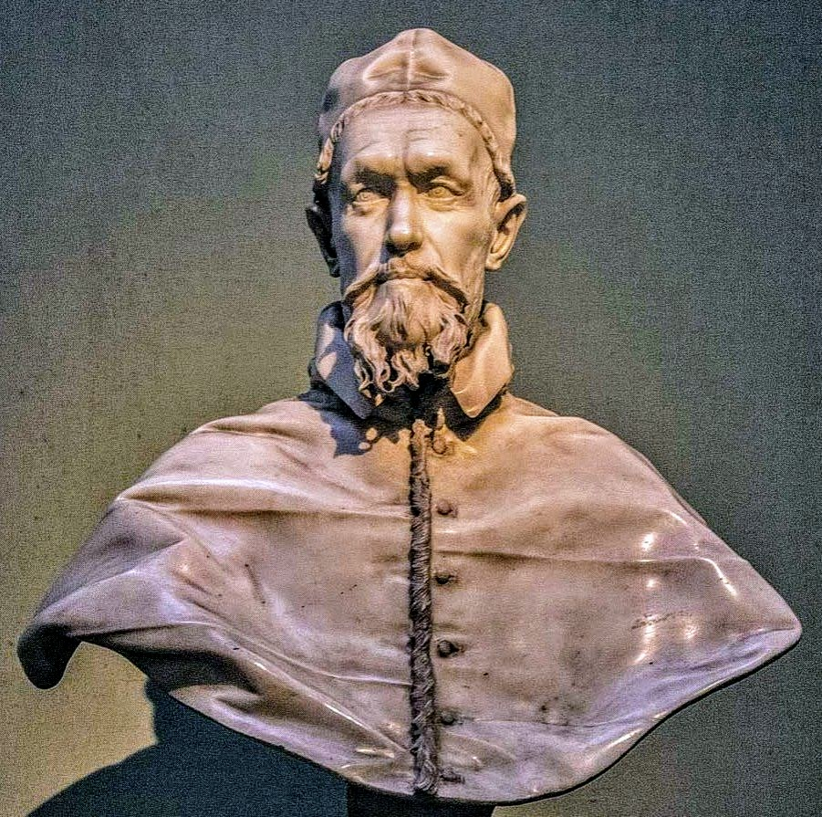Bust of Pope Innocent X by Gian Lorenzo Bernini, Galleria Doria Pamphilj, Rome