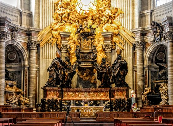 Cathedra Petri (Chair of St Peter), St Peter's Basilica, Rome