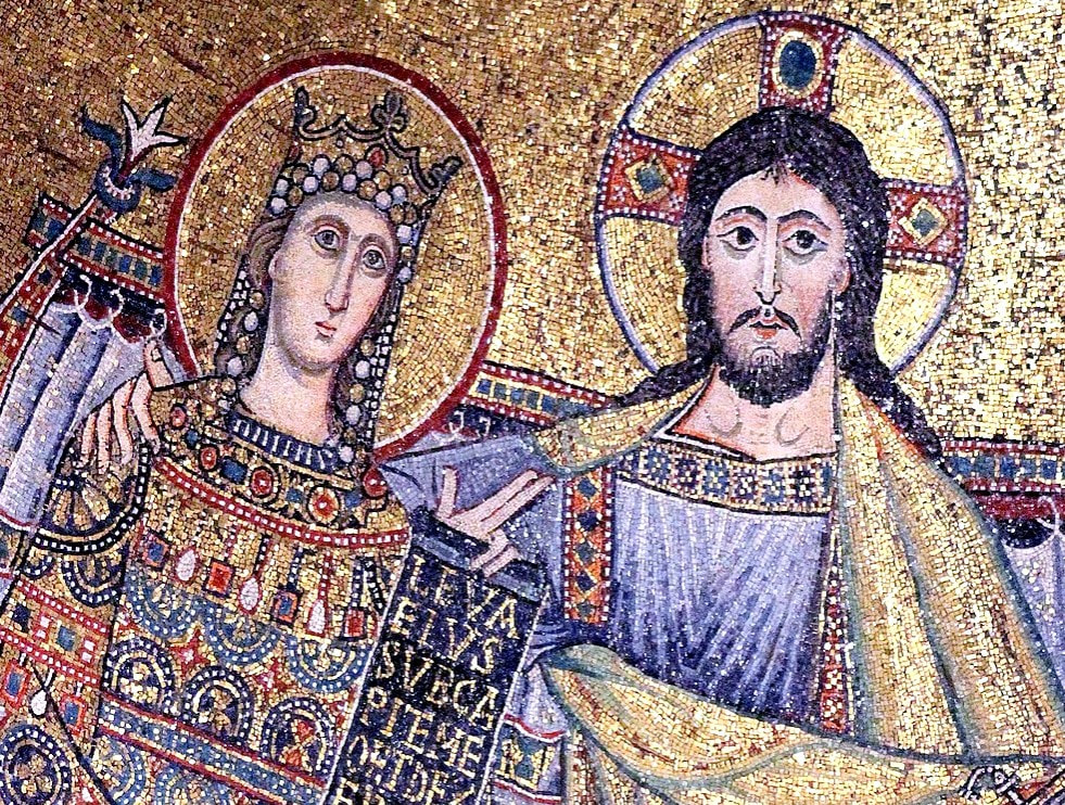 Christ and the Virgin Mary, mosaic in Santa Maria in Trastevere, Rome