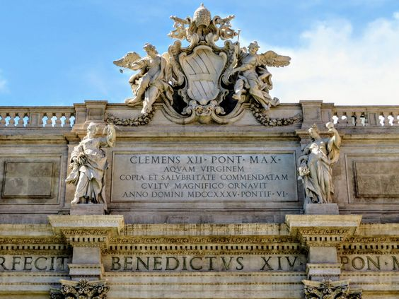 Coat of arms of Pope Clement XII, Trevi Fountain, Rome