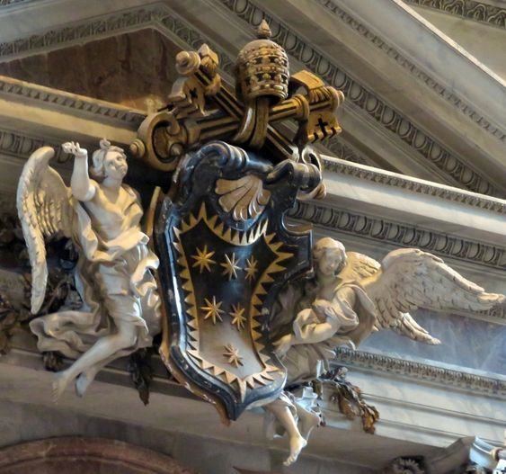 Coat of arms of Pope Clement X (r. 1670-76), St Peter's Basilica, Rome