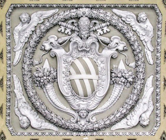 Coat of Arms of Pope Clement XII (r. 1730-40), San Giovanni in Laterano, Rome.