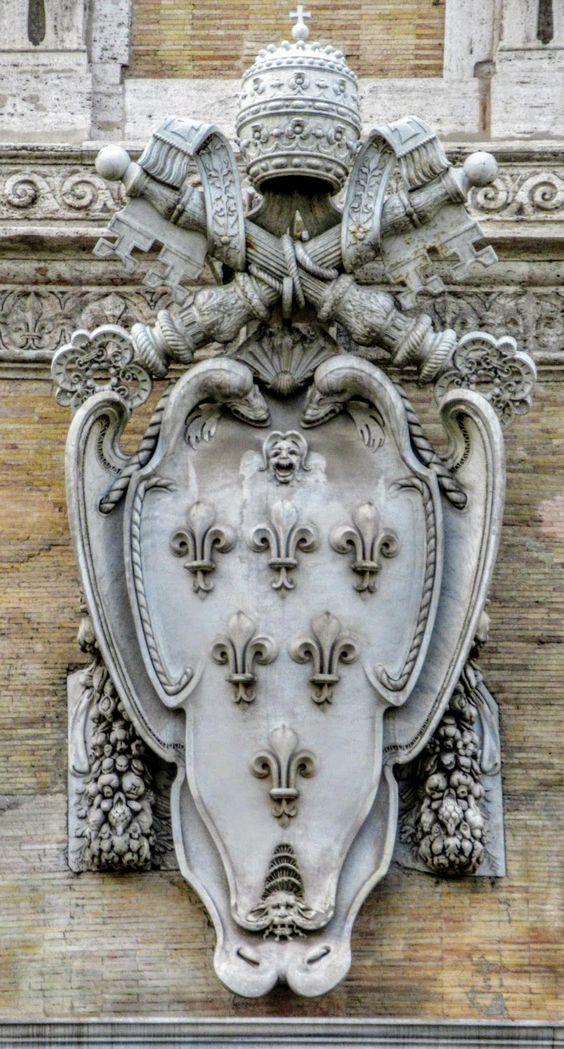 Coat of arms of Pope Paul III (r. 1534-49), Palazzo Farnese, Rome
