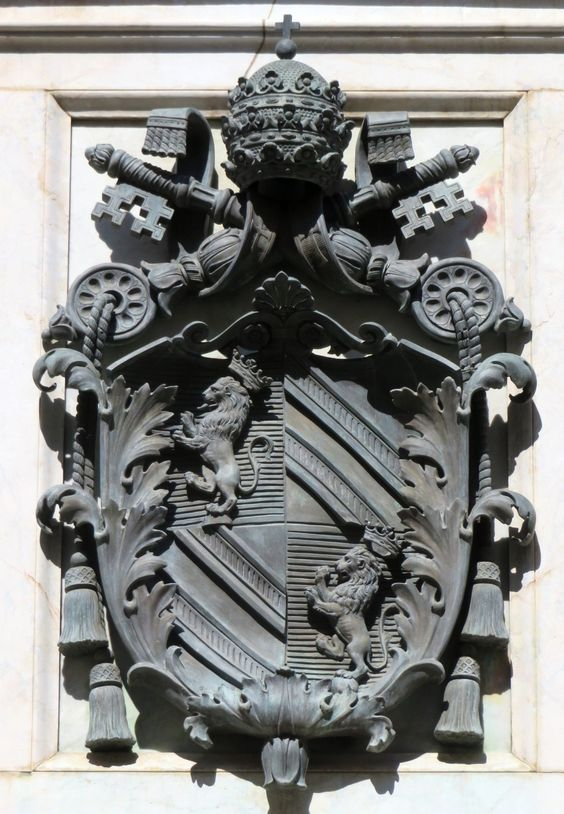 Coat of arms of Pope Pius IX (r. 1846-78), Column of the Immaculate Conception, Rome