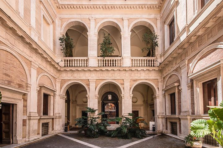 Courtyard of the Palazzo Baldassini, Rome