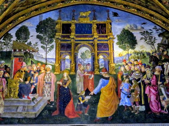 Disputation of St Catherine by Pinturicchio, Borgia Apartments, Vatican Museums, Rome