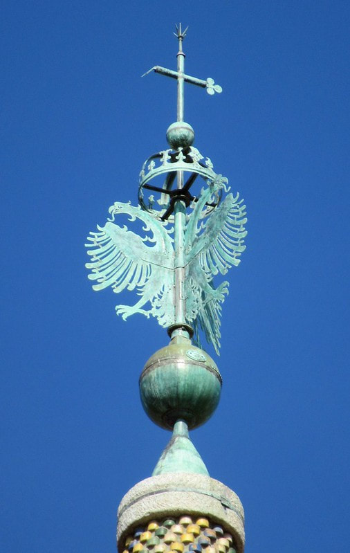 Double-headed eagle, bell tower, Sant' Maria dell' Anima, Rome