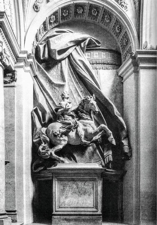 Equestrian Statue of Constantine the Great by Bernini, Scala Regia, Vatican City