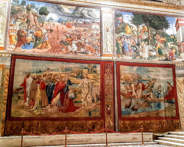 'Raphael' Tapestries in Sistine Chapel, Vatican City, Rome