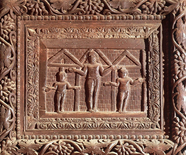 Relief of the Crucifixion of Christ, wooden door of Santa Sabina, Rome