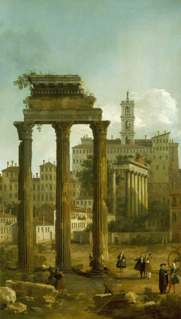 Ruins of the Roman Forum, signed and dated (1742) by Canaletto, Royal Collection