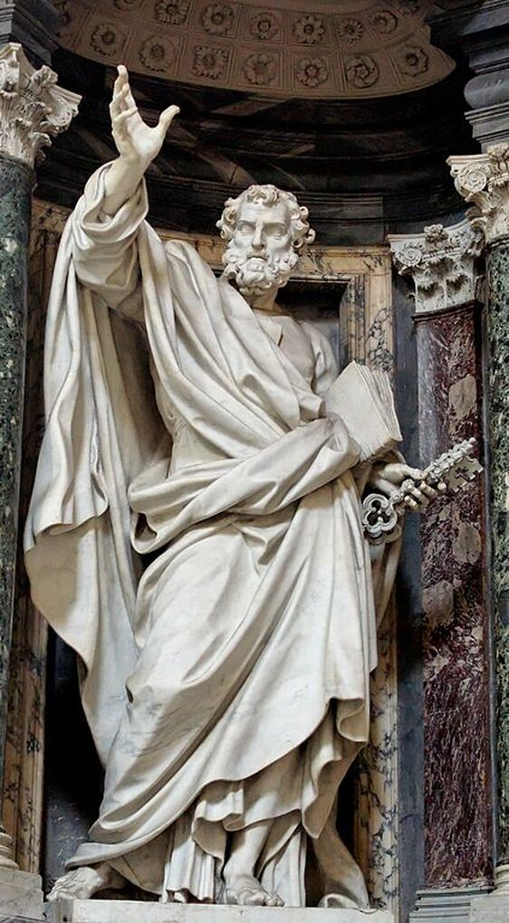 Statue of St Peter by Pierre-Etienne Monnot, San Giovanni in Laterano, Rome