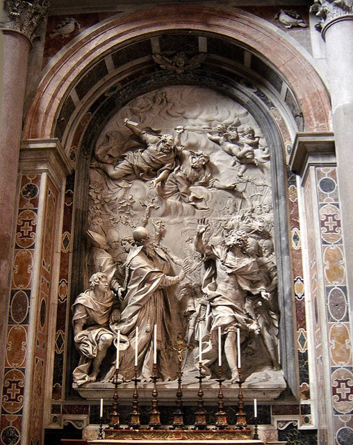Expulsion of Attila by Algardi, St Peter's Basilica, Rome