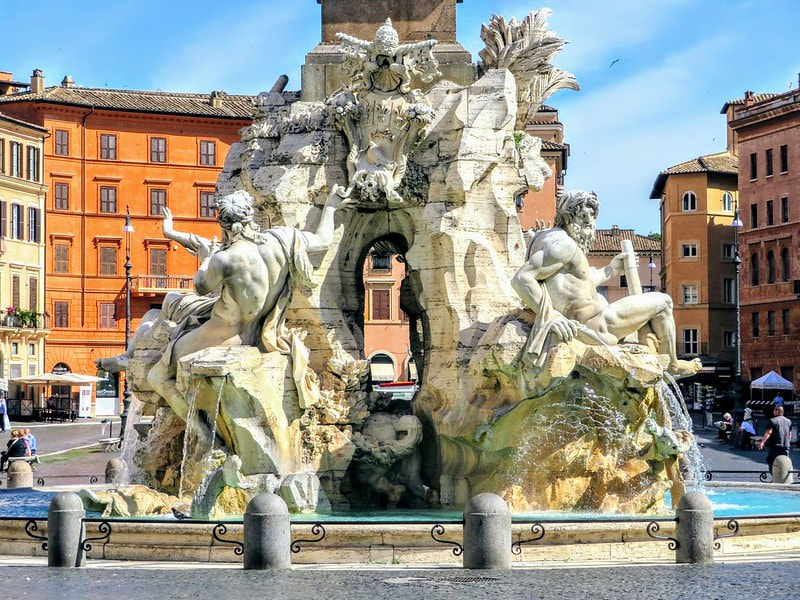 Fountain of Four Rivers, Piazza Navona, Rome