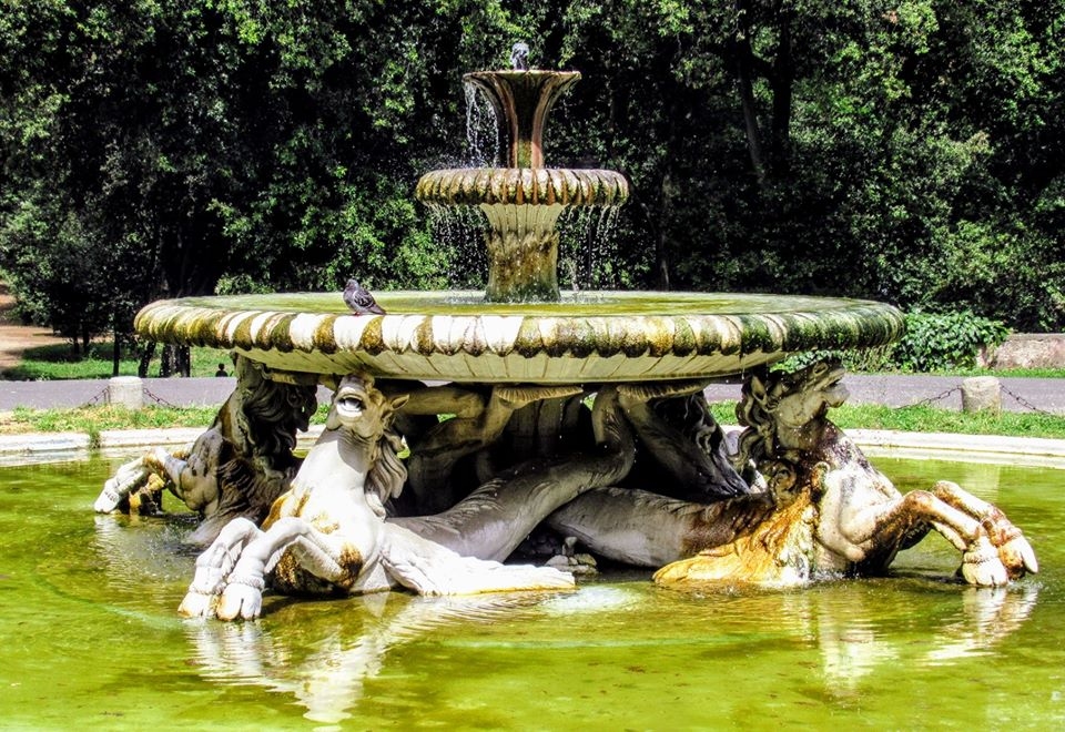 Fountain of the Seahorses, Villa Borghese, Rome