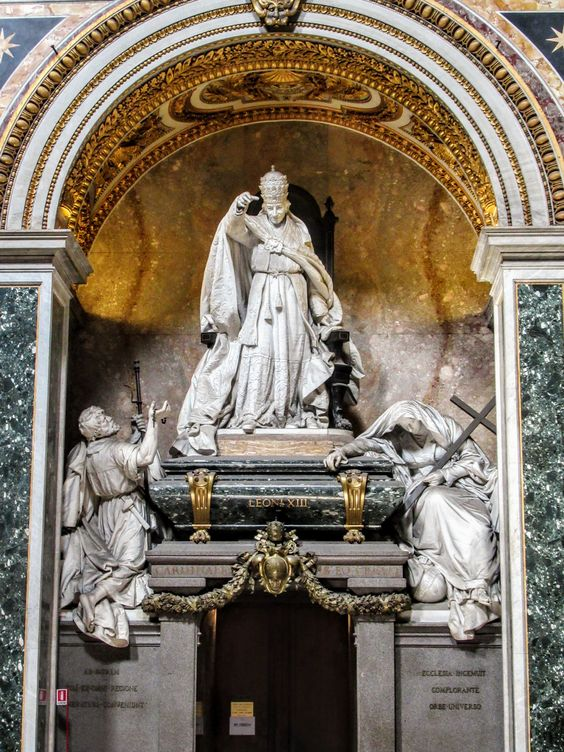 Funerary monument to Pope Leo XIII, San Giovanni in Laterano (St John Lateran), Rome