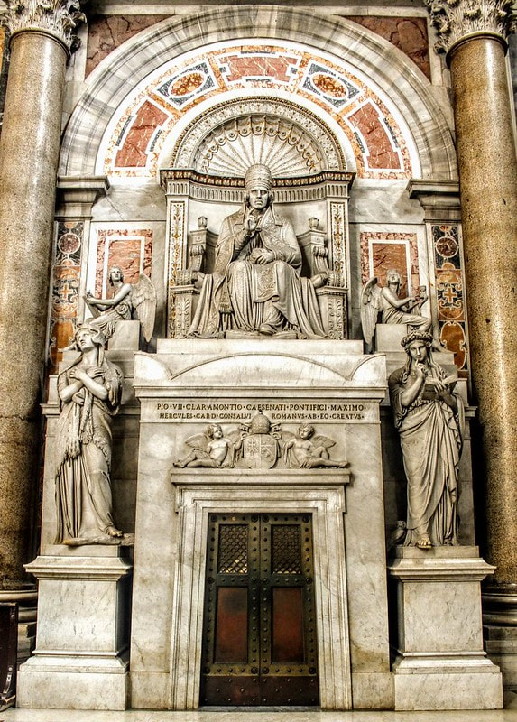 Funerary monument to Pope Pius VII by Thorvaldsen, St Peter's Basilica, Rome