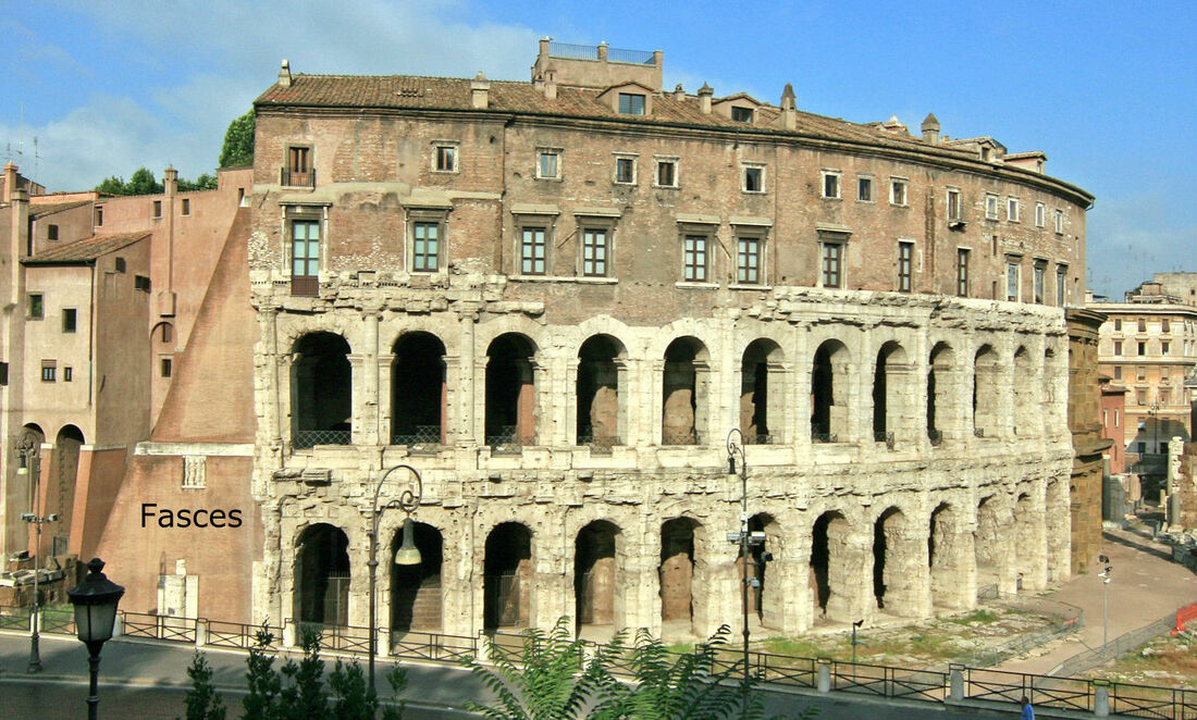 Image of the Fasces, Theatre of Marcellus, Rome