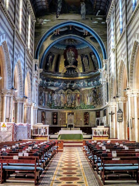 Interior, church of St Paul's Within the Walls, Rome