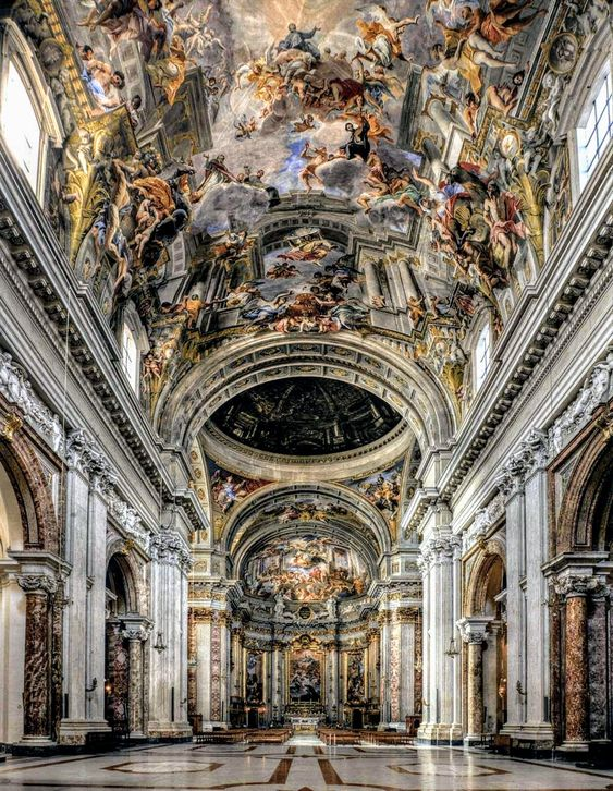 Interior of church of Sant' Ignazio, Rome