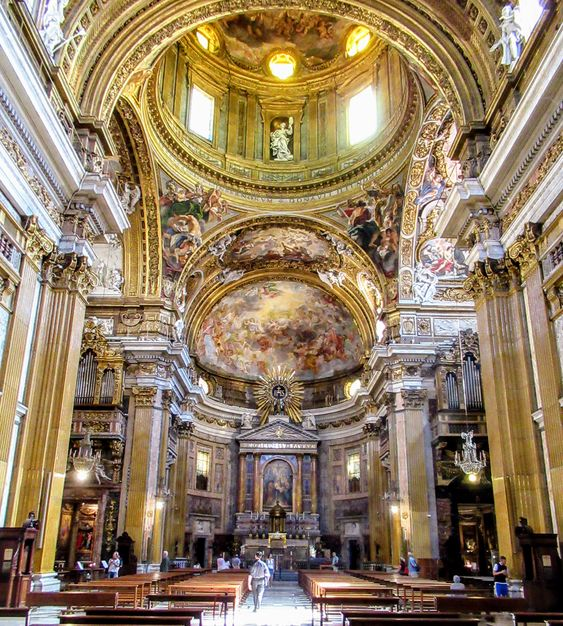 Interior of the Chiesa del Gesu, Rome
