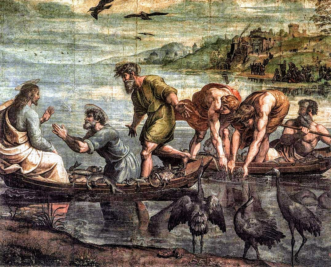 Miraculous Draught of the Fishes, cartoon by Raphael, Victoria & Albert Museum, London