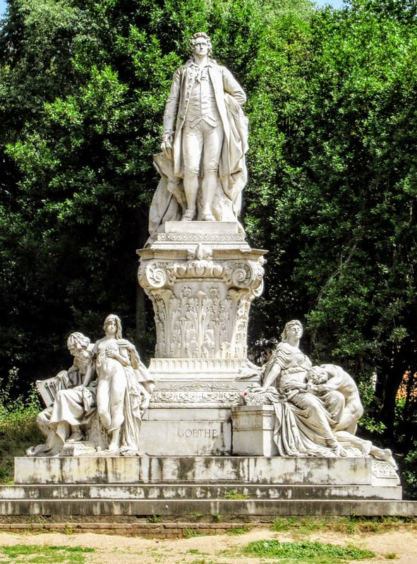 Monument to Goethe, Villa Borghese Gardens, RomePicture