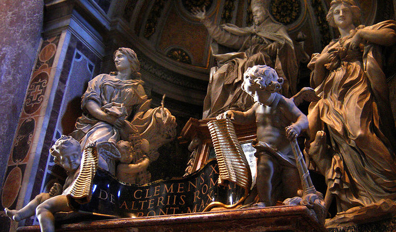 Monument to Pope Clement X, St Peter's Basilica, Rome