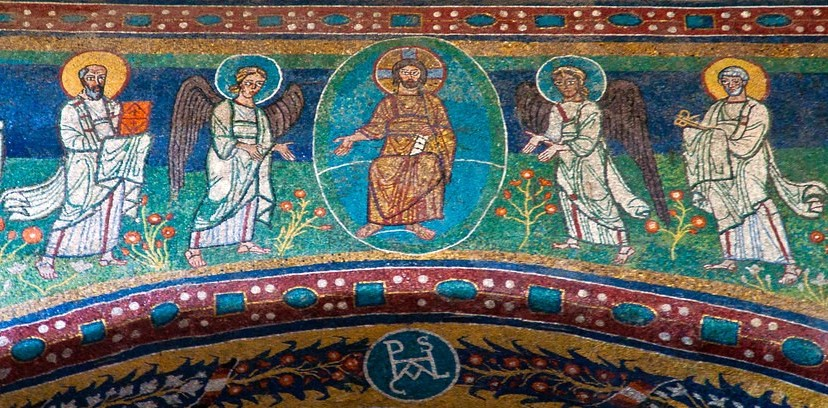 Mosaic, church of Santa Maria in Domnica, Rome