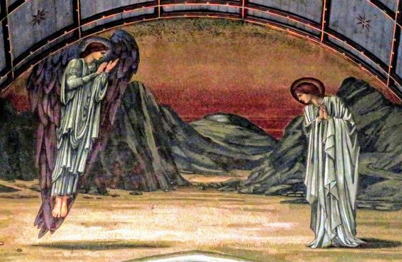 Mosaic of the Annunciation by Burne-Jones, St Paul's Within the Walls, Rome