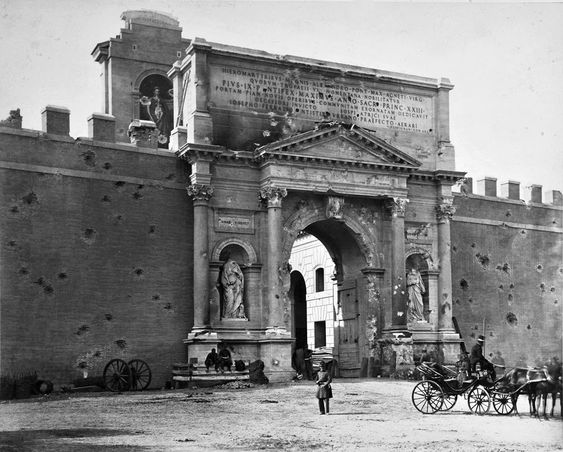 Old photograph of Porta Pia, Rome