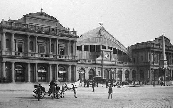 Old photograph of Stazione Termini, Rome