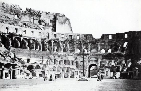 Old photograph of the Colosseum, Rome