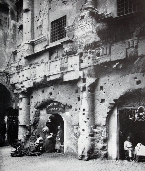 Old photograph of the Theatre of Marcellus, Rome