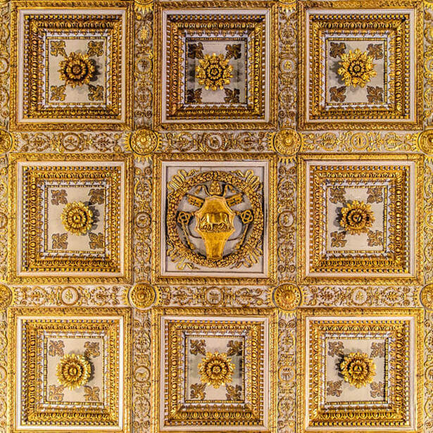 15th century wooden ceiling of church of Santa Maria Maggiore, Rome