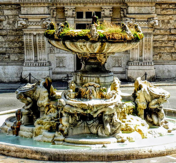 Fountain of the Frogs by Gino Coppede, Piazza Mincio, Rome