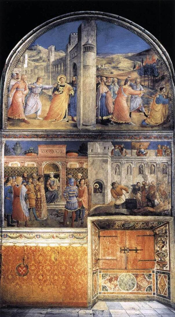 Frescoes by Fra Angelico, Cappella Niccolina (Vatican Museums), Rome