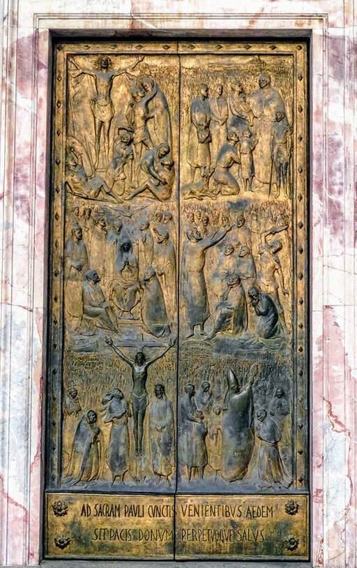 Holy Door by Guido Veroi, St Paul's Outside the Walls, Rome