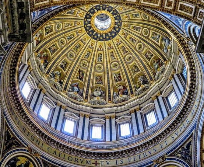 Interior of the dome of St Peter's Basilica, Rome