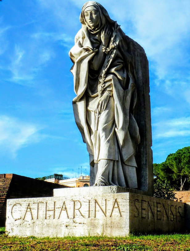 St Catherine of Siena (1961) by Francesco Messina, Gardens of Castel Sant' Angelo, Rome