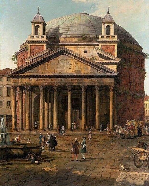 The Pantheon, signed and dated (1742) by Canaletto, Royal Collection
