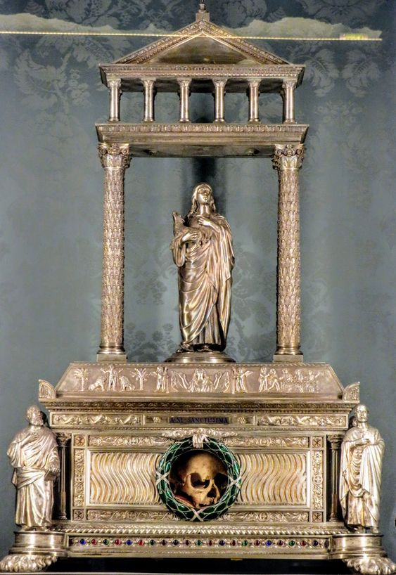 Reliquary of the head of St Agnes, church of Sant' Agnese in Agone, Rome