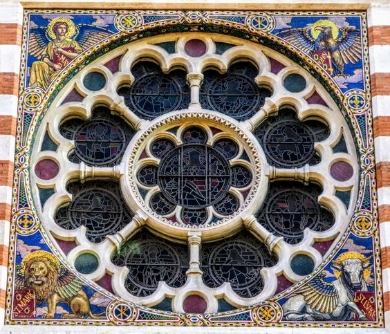 Rose window, St Paul's Within the Walls, Rome