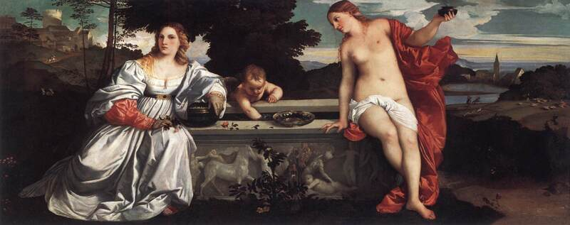 Sacred and Profane Love by Titian, Borghese Gallery, Rome