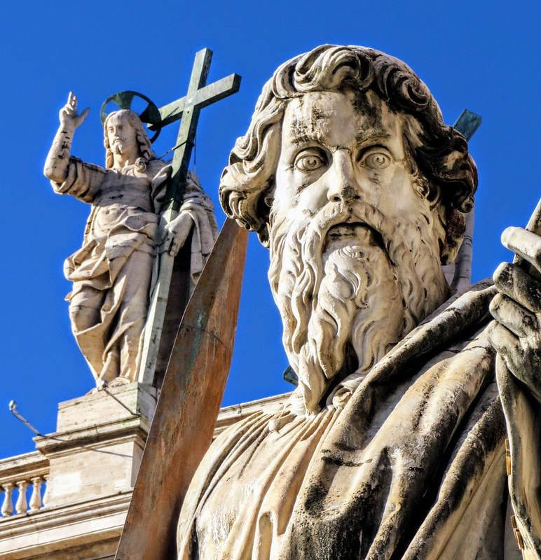 St Paul by Adamo Tadolini, St Peter's Square, Rome